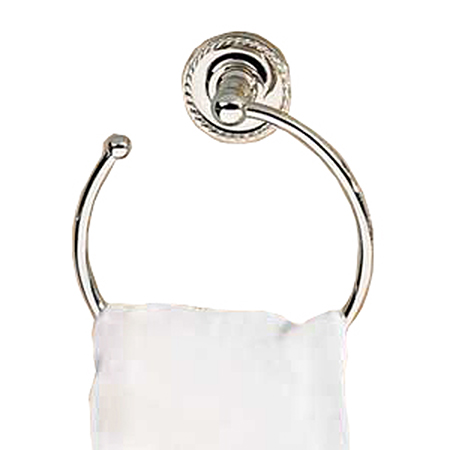 Polished-Chrome Towel Ring - Open