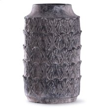 Binani Charcoal  19in x 10in Decorative Concrete Vase