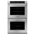 "30"" Heritage Double Wall Oven, Silver Stainless Steel with Pro Style Handle Product Image"