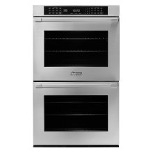 "30"" Heritage Double Wall Oven, Silver Stainless Steel with Pro Style Handle"