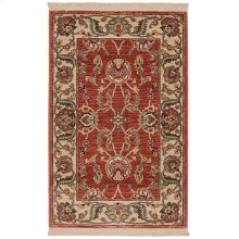 Ashara Agra Red Rectangle 2ft 6in x 4ft