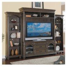 Belmeade 72-Inch TV Console Old World Oak finish and Hutch