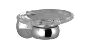 Soap dish with soap dish wall-mounted - chrome Product Image