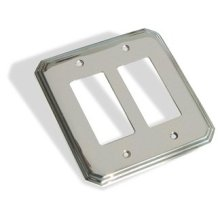 Double GFI Square Deco Switch Plate - Satin Nickel