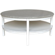 Studio Round Cocktail Table - Wht/rw