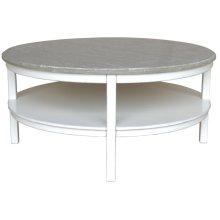 Studio Round Cocktail Table - Wht/rw