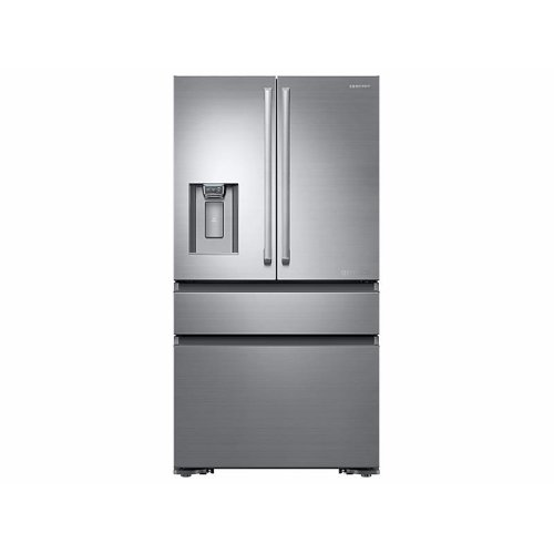 23 cu. ft. Counter Depth 4-Door French Door Freestanding Chef Collection Refrigerator in Stainless Steel