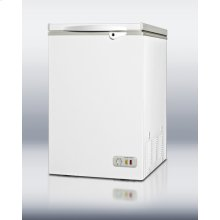 3.5 cu.ft. chest freezer with manual defrost and lock