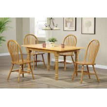 DLU-TLB3660-820-LO5PC  5 Piece Butterfly Dining Set  Arrowback Chairs
