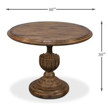 "Renaissance Pedestal Dining Table,40""Top"