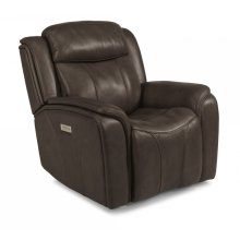 Paisley Leather Power Recliner with Power Headrest
