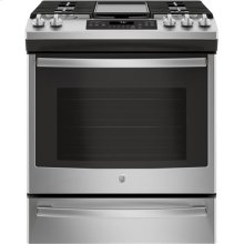 Slide-In Front Control, Premium Stainless Steel Appearance, 5.6 cu. Ft. Self-Cleaning Convection Gas Range