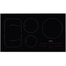 KM 6370 Induction Cooktop with PowerFlex cooking area for maximum versatility and performance.