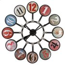 Multi-Colored Bubble Wall Clock Product Image