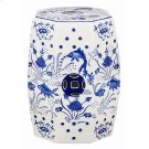 Cloud 9 Chinoiserie Garden Stool - Blue Product Image
