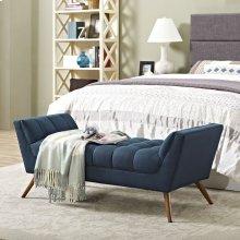 Response Medium Upholstered Fabric Bench in Azure