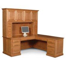 Classic L-Shape Desk, Classic Hutch Top