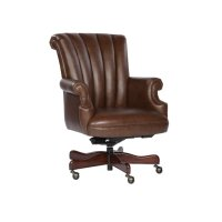Coffee Leather Executive Chair Product Image