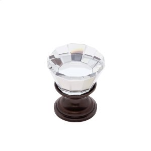 Old World Bronze 22 mm Flat Top Crystal Knob Product Image