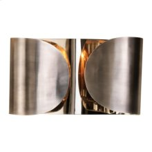 Folded Sconce-Antique Silver/Nickel-HW