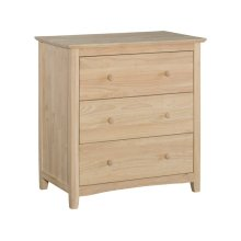 Unfinished Lancaster 3 Drawer Chest