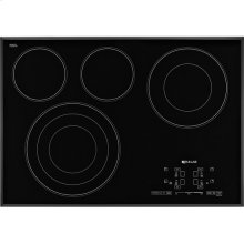 "Black Floating Glass 30"" Electric Radiant Cooktop with Glass-Touch Electronic Controls, Black"