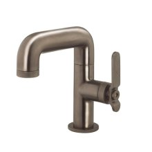 UNION Single-hole Basin Faucet with Lever Handle - Brushed Black Chrome