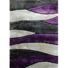 120 Gray Purple Rug