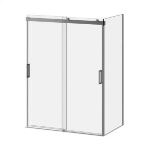"""60"""" X 77"""" Sliding Shower Door With Clear Glass - Chrome Product Image"""