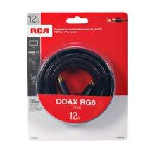 RCA 12 Ft Digital RG6 Coaxial Cable - Black