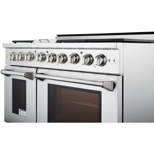 """48"""" Professional Style Gas Range in Stainless Steel"""