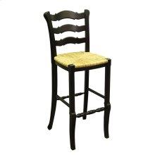 Provence Ladder - Back Bar Stool - Blk