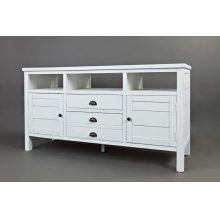 """Artisan's Craft 60"""" TV Console - Weathered White"""