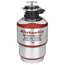 1-Horsepower Batch Feed Food Waste Disposer - Red