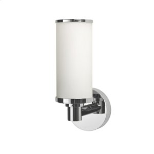Porto Single Wall Light With Frosted Glass Tube Shade Product Image
