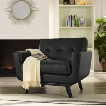 Engage Bonded Leather Armchair in Black