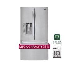 Mega-Capacity 3 Door French Door Refrigerator with Smart Cooling Plus