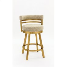 Miramar Gold Stainless Steel Bar Stool