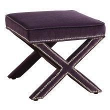 Reese Purple Velvet Ottoman