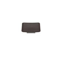 Scalloped Square Large Savile In Chocolate