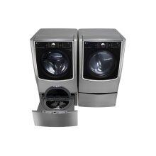 5.5 Total Capacity LG TWINWash Bundle with LG SideKick and Gas Dryer