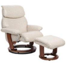 R-702 Atlas Sand Leather Recliner