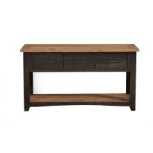 Rustic Collection Console Table, Antique Black and Honey Tobacco