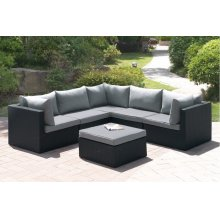 407 / Liz.p29- 6PC OUTDOOR PATIO SOFA SET [P50140(3)+P50142(2)+P50144(1)]