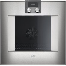 "400 series 400 series oven Stainless steel-backed full glass door Width 24"" (60 cm) Right-hinged Controls on top"