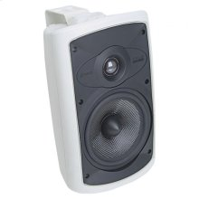 "White Indoor/Outdoor 2-Way Loudspeaker with 6"" Carbon Woofer. OS6.5 - White"