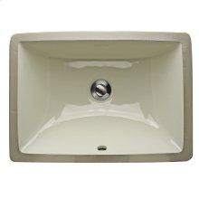 16 Inch X 11 Inch Undermount Ceramic Sink In Bisque