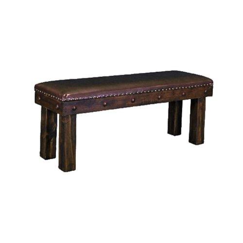 4' Laguna Bench W/Leather Seat