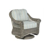 Bainbridge Bark Deep Seating Swivel Glider Lounge Chair w/Woven Base