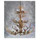 14 Light 3 Tier Mule Deer Chandelier Product Image